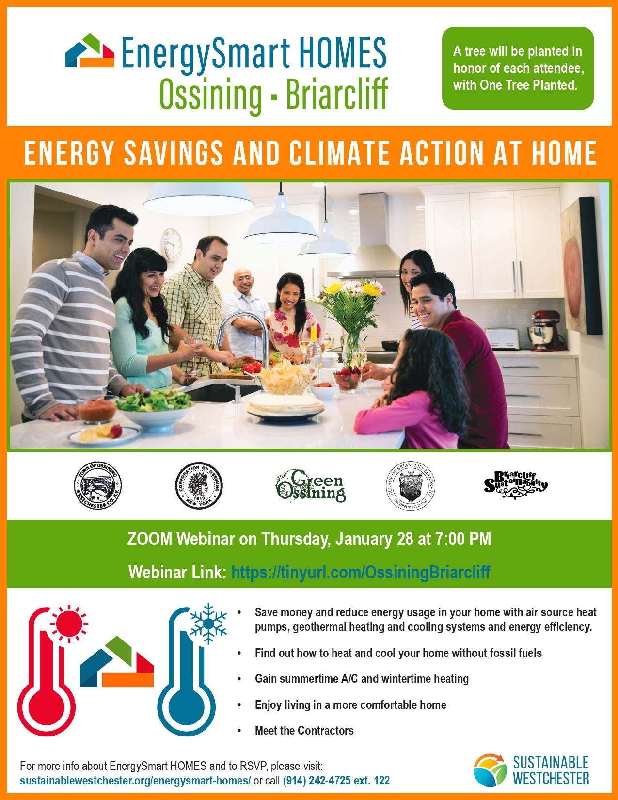 High Heating Bills? Join the EnergySmart Homes Ossining & Briarcliff Webinar