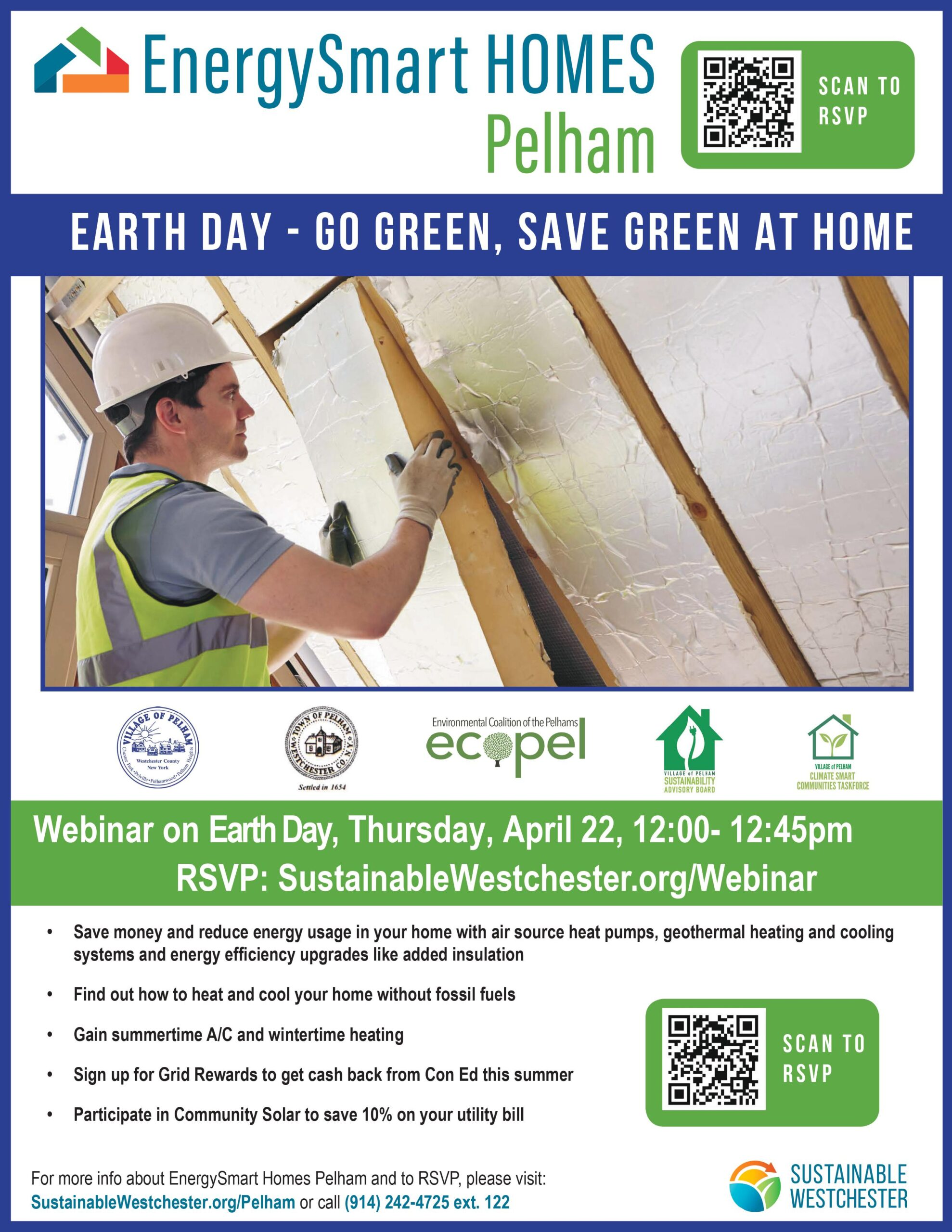 April 22, 12:00-12:45 Earth Day with Green Ossining and Briarcliff Sustainability