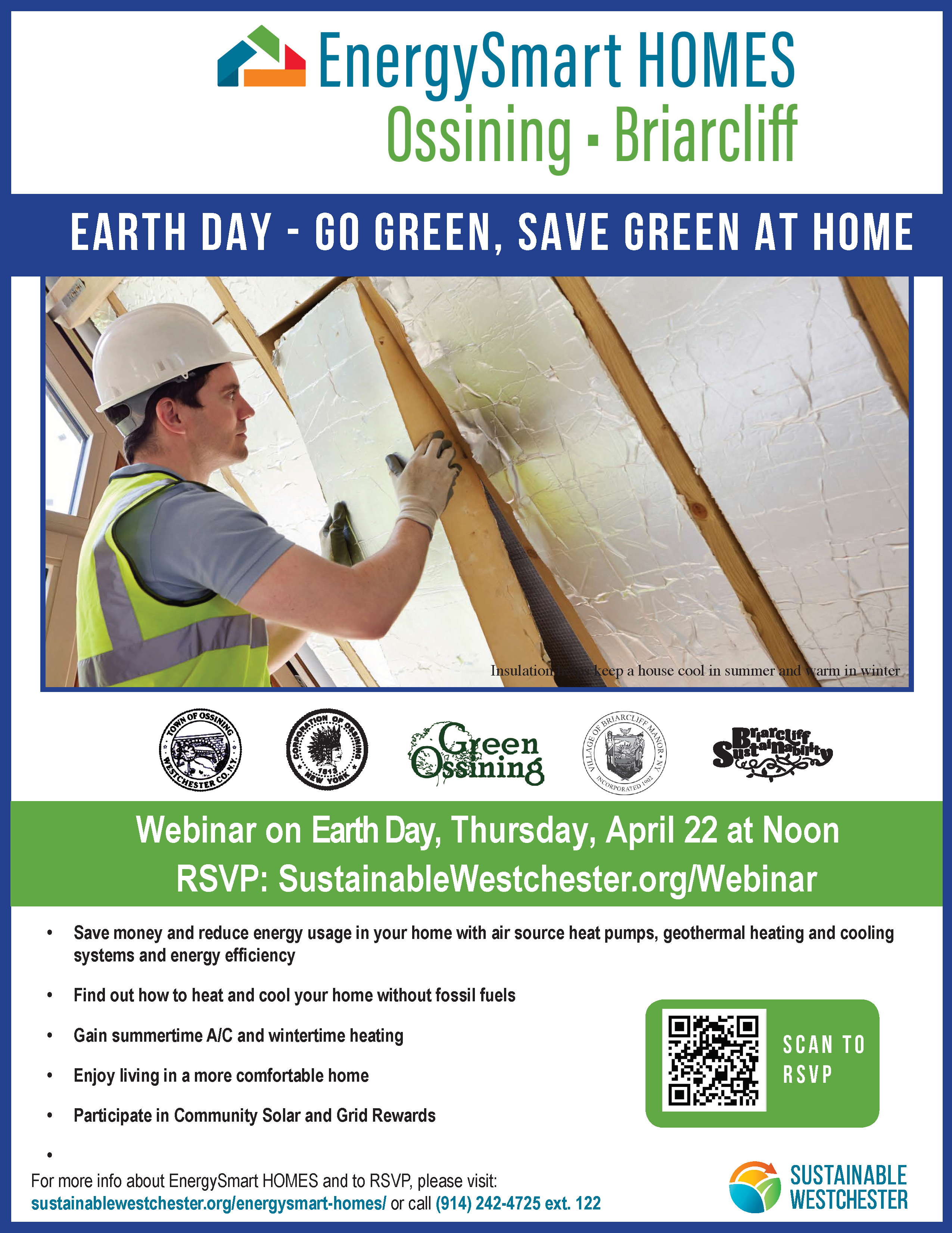 April 22, 12:00-12:45 Earth Day with Green Ossining and Briarcliff Sustainability <a class=